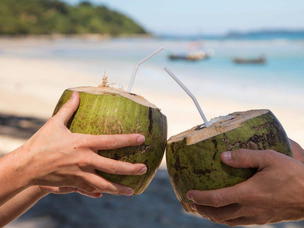 Manfaat air kelapa. Foto: Insider.