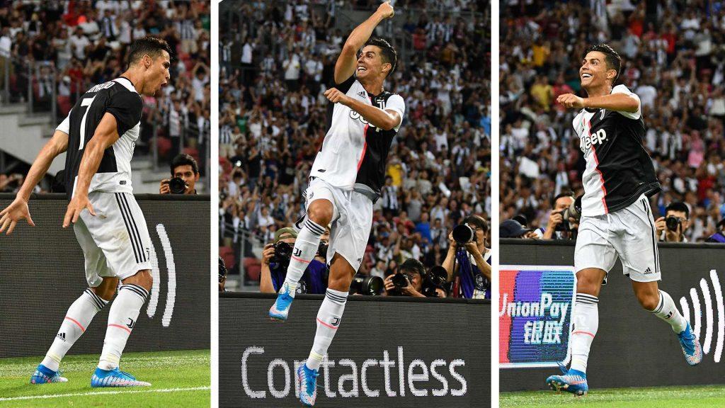 Cristiano Ronaldo Siuuu. Foto: Goal.